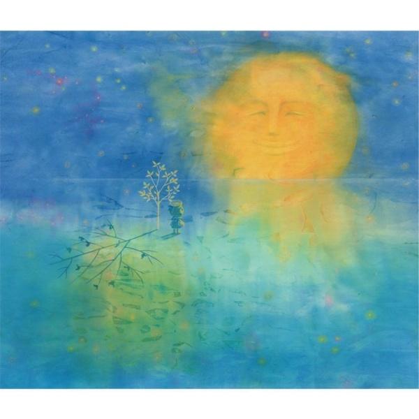 画像1: アートセラピー絵本『海を飛ぶたね』より